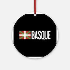 Basque Country: Basque Flag & Basqu Round Ornament