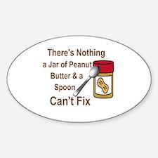 Cute Peanut butter Sticker (Oval)