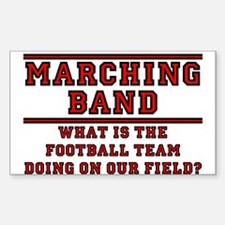 Football Team on Our Field Decal (Rect.) Decal