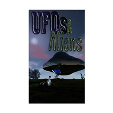 UFO & Aliens Rectangle Decal