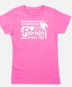 Cute Someone in florida loves me Girl's Tee