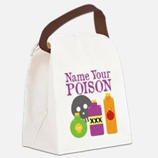 Funny Name Your Poison Drinking Canvas Lunch Bag