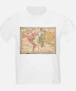 Vintage Map of The World (1760) 2 T-Shirt