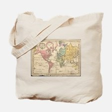 Vintage Map of The World (1760) 2 Tote Bag