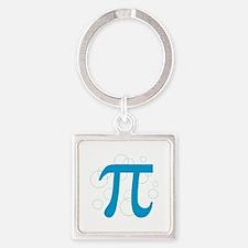 Pi Circles Square Keychain