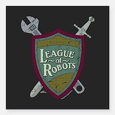 "Futurama League of Robot Square Car Magnet 3"" x 3"""