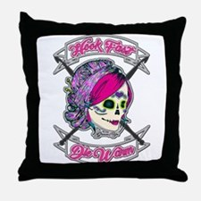 Hook Fast Die Warm Throw Pillow