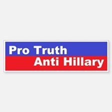 Pro Truth Anti Hillary Sticker (Bumper)