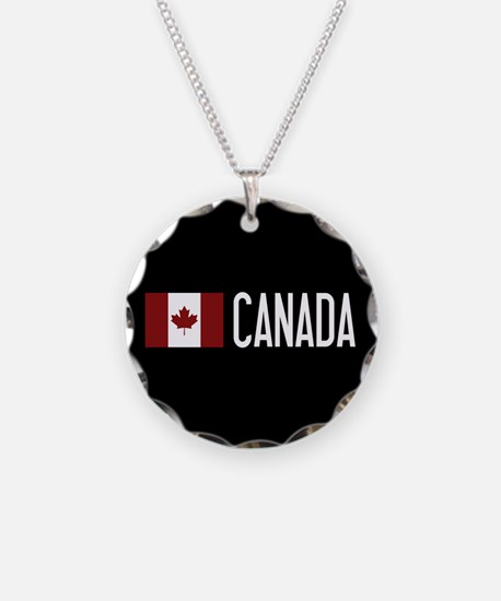 Canada: Canadian Flag & Cana Necklace