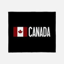 Canada: Canadian Flag & Canada Throw Blanket