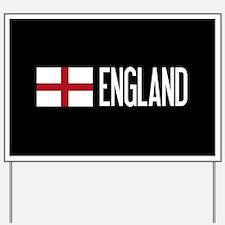 England: English Flag & England Yard Sign