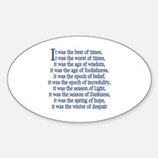 Tale of Two Cities Oval Decal