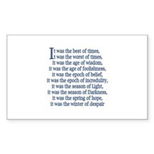 Tale of Two Cities Rectangle Decal