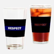 Unique Respect white Drinking Glass