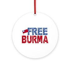 Free Burma 1.1 Ornament (Round)