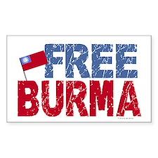 Free Burma 1.1 Rectangle Decal