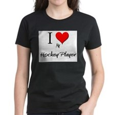 I Love My Hockey Player Tee