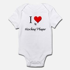 I Love My Hockey Player Infant Bodysuit