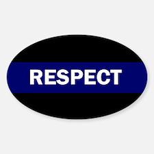 RESPECT BLUE Bumper Stickers