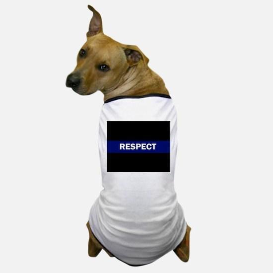 RESPECT BLUE Dog T-Shirt