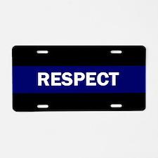 RESPECT BLUE Aluminum License Plate