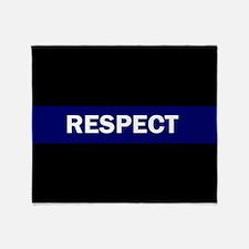 RESPECT BLUE Throw Blanket