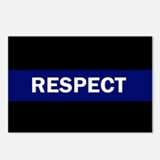 RESPECT BLUE Postcards (Package of 8)