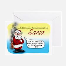 Santa's PSA Greeting Card