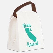 California - Born & Raised Canvas Lunch Bag