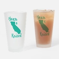 California - Born & Raised Drinking Glass