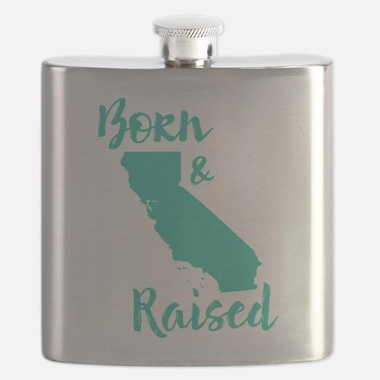 California - Born & Raised Flask