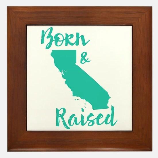 California - Born & Raised Framed Tile