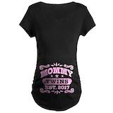 Mom twins 2017 Maternity T-shirts (Dark)