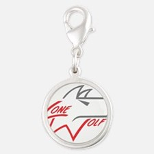 Lone Wolf logo (red/gray) Charms