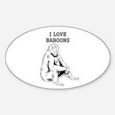 I Love Baboons Decal