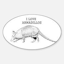 I Love Armadillos Decal