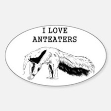 I Love Anteaters Decal