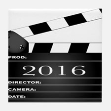2016 Movie Clapperboard Tile Coaster