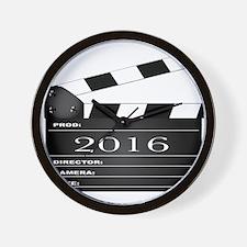 2016 Movie Clapperboard Wall Clock