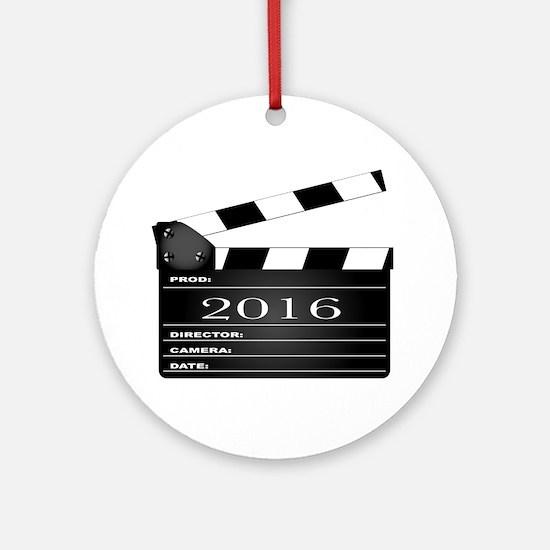2016 Movie Clapperboard Round Ornament