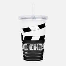 Car Chase Clapperboard Acrylic Double-wall Tumbler