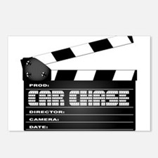 Car Chase Clapperboard Postcards (Package of 8)