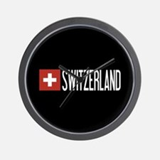 Switzerland: Swiss Flag & Switzerland Wall Clock