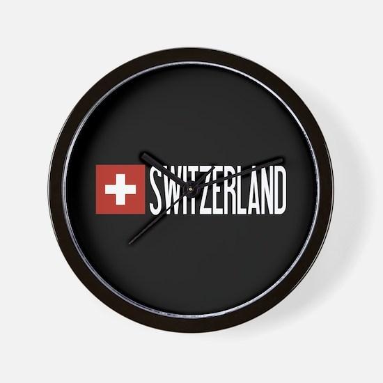 Switzerland: Swiss Flag & Switzerland Wall Clock