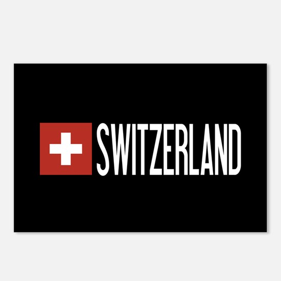 Switzerland: Swiss Flag & Postcards (Package of 8)