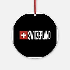 Switzerland: Swiss Flag & Switzerla Round Ornament