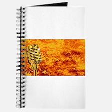 Karaoke Microphone On Fire Journal