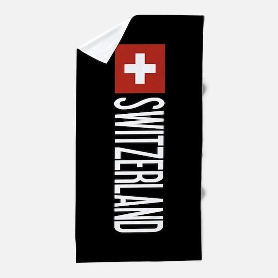Switzerland: Swiss Flag & Switzerland Beach Towel