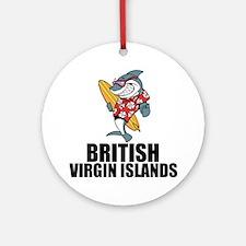 British Virgin Islands Round Ornament