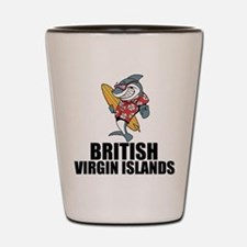 British Virgin Islands Shot Glass